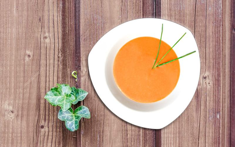 Sopa de tomate (Gazpacho) con vinagre de Jerez