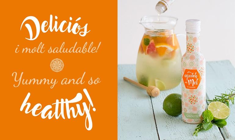Beguda refrescant de fruites amb agredolç de mel