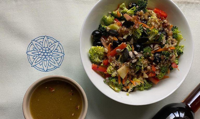 Salade de brocoli à la sauce au vinaigre de Porto